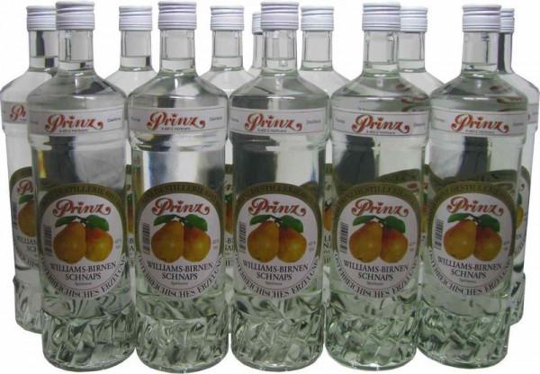 36 Flaschen Prinz Williams Birnen Schnaps 1,0l Spirituose aus Österreich - 4,8% Rabatt