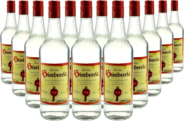 18 Flaschen Prinz Himbeerla 1,0l Spirituose aus Österreich