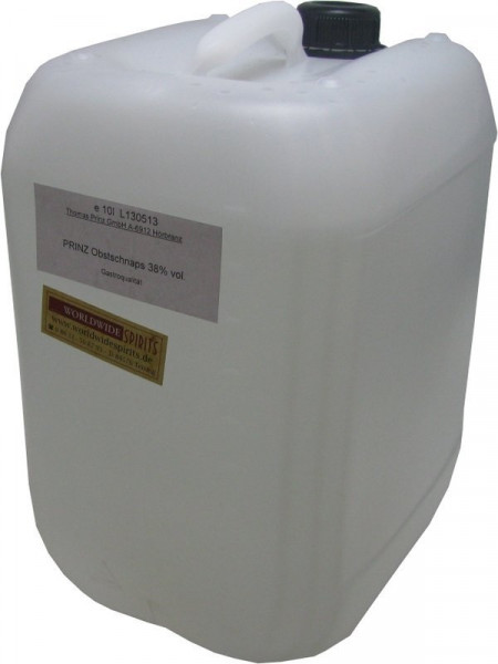 Prinz Obstler 38% - 10 Liter Kanister Spirituose aus Österreich