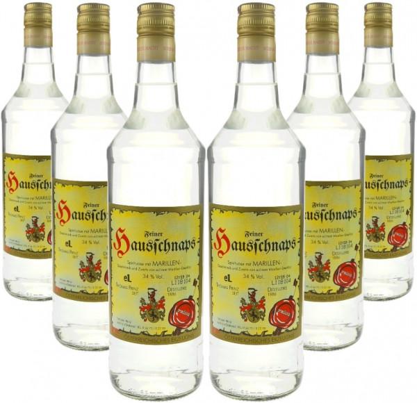 6 Flaschen Prinz Hausschnaps Marille 1,0l Schnaps aus Österreich -7% Rabatt