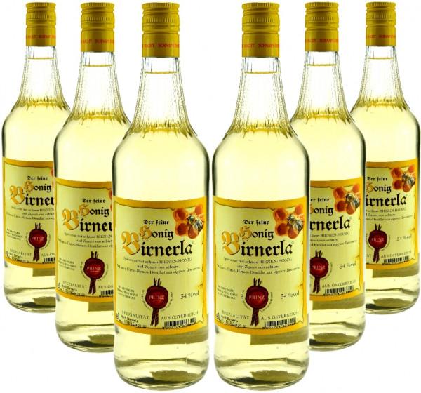 6 Flaschen Prinz Honig Birnerla 1,0l aus Österreich - auch bei Frauen sehr beliebt