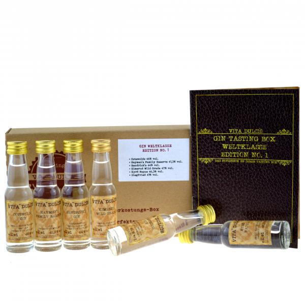 Vita Dulcis Tasting Box Gin Nr. 2: Weltklasse 6x0,02l + 20-seitige Broschüre - Edition No.1