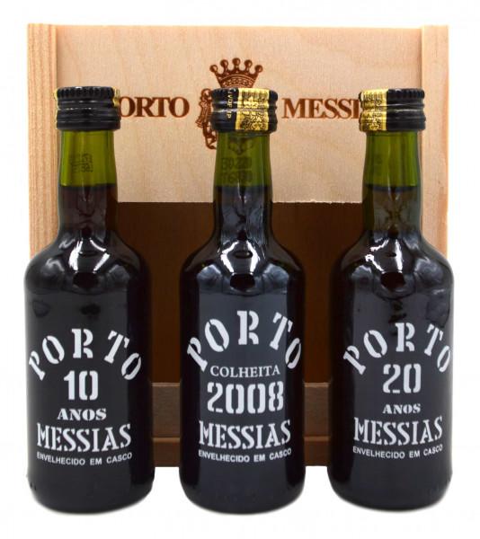 Port Messias Miniaturen 3x0,05l in Holzbox