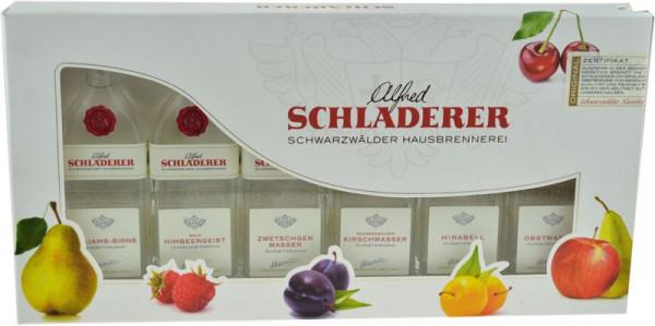 Schladerer Miniatur-Packung 6x0,03l Obstbrand