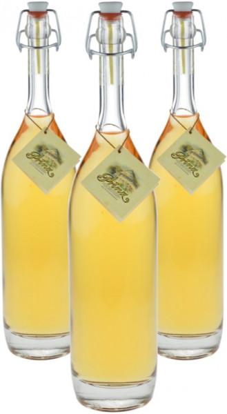 3 Flaschen Prinz Alte Haselnuss 0,5l in Bügelflasche - im Holzfass gereift aus Österreich