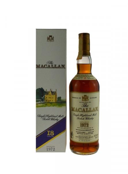 The Macallan Whisky 0,7l Jahrgang 1972, 18 Jahre alt in Geschenkkarton