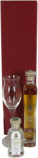 Ziegler Birnenbrand + Ziegler Birnenfruchtessig + Ziegler Glas Geschenkpackung