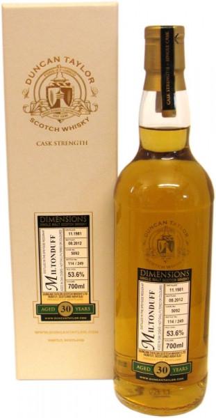 Miltonduff Whisky von Duncan Taylor Jahrgang 1981 30 Jahre