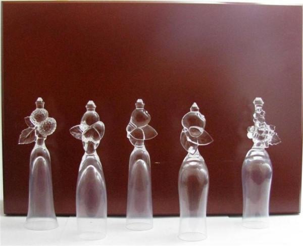 Lheraud 5 versch. Likörgläser aus Kristall