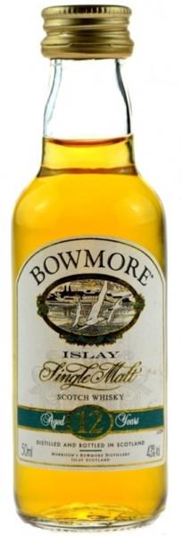 Bowmore Whisky 12 Jahre 0,05l Miniatur-alte Ausstattung