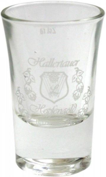 Hallertauer Hopfengold Schnapsglas