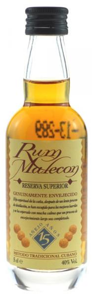 Malecon Reserva Superior Rum 15 Jahre Miniatur