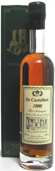 Armagnac De Castelfort Jahrgang 1980 - abgefüllt 2009/2015 - 28/34 Jahre im Fass gelagert
