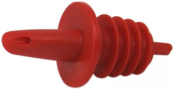 Kunststoff-Ausgiesser rot