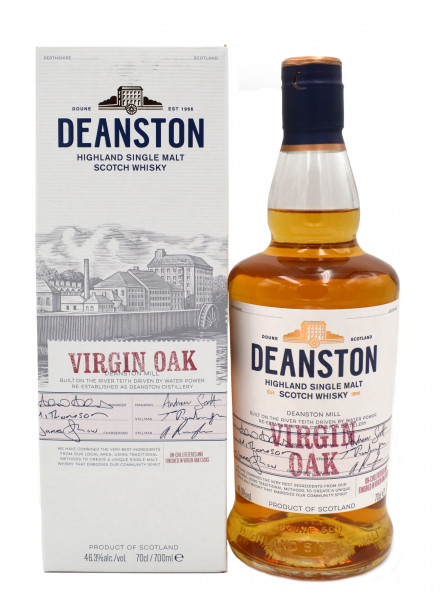 Deanston Virgin Oak 0,7l inkl. Geschenkpackung - Highland Single Malt Scotch Whisky