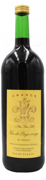 Vin de Pays rouge trocken 1,0l - roter Landwein