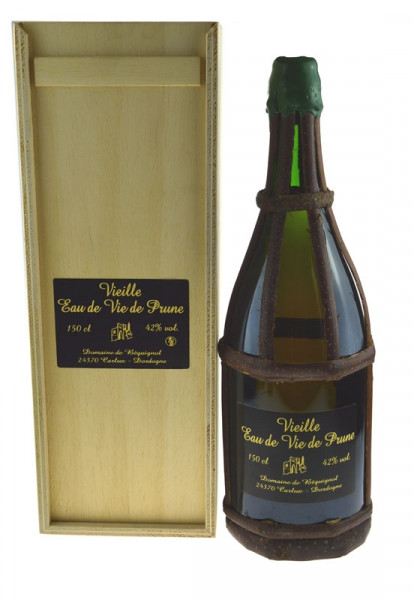 Vieille Eau de Vie de Prune, Domaine de Béquignol Magnumflasche Pflaumenbranntwein