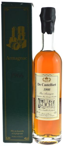De Castelfort Armagnac Jahrgang 1966 - abgefüllt 2013/2016 - 46/49 Jahre im Fass gelagert