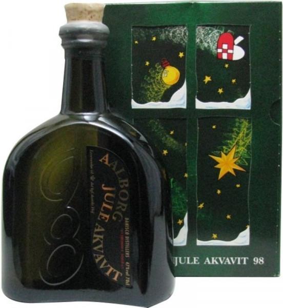Aalborg Jule Akvavit Jahrgang 1998 - 0,7l - Sonderabfüllung incl. Geschenkpackung