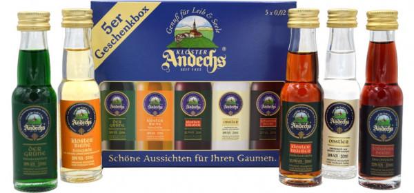 Kloster Andechs Geschenkbox 5x0,02l Miniaturen