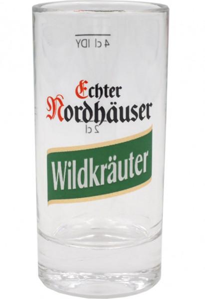 Nordhäuser Wildkräuter Schnapsglas mit 2cl/4cl Eichstrich