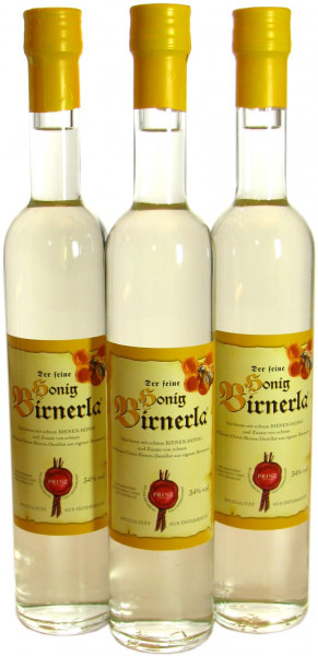 3 Flaschen Prinz Honig Birnerla ( Birnenschnaps mit Honig ) 0,5l - aus Österreich