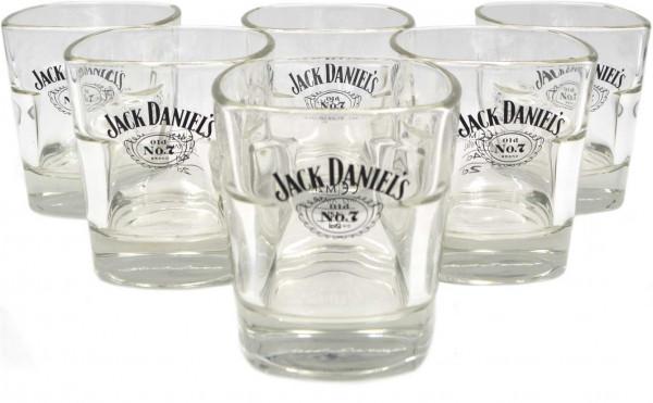 6er Pack Jack Daniels Whiskey Glas - Tumbler - 10% Rabatt