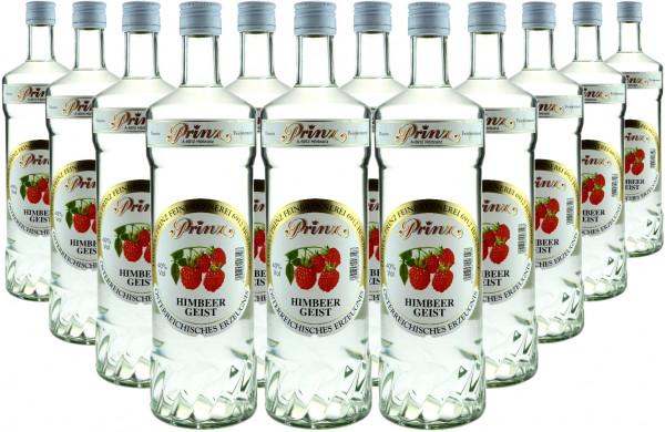 12 Flaschen Prinz Himbeergeist 1,0l Spirituose aus Österreich - 4,8% Rabatt