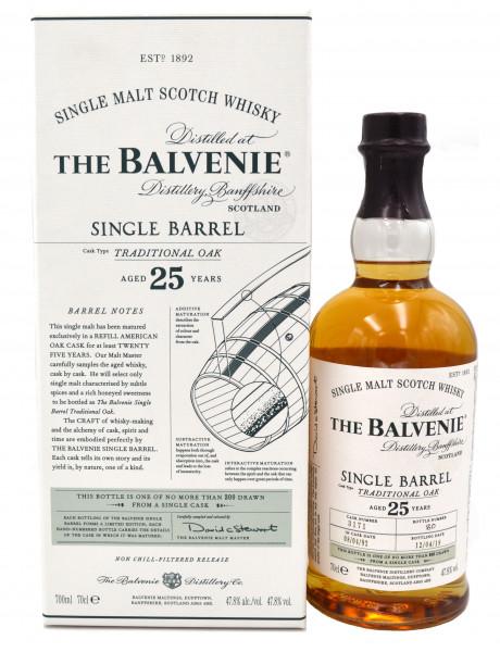 Balvenie Single Barrel Traditional Oak 25 Jahre
