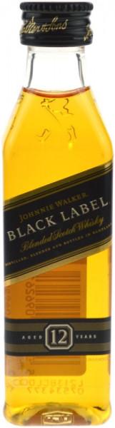 Johnnie Walker Black Label 12 Jahre Miniatur