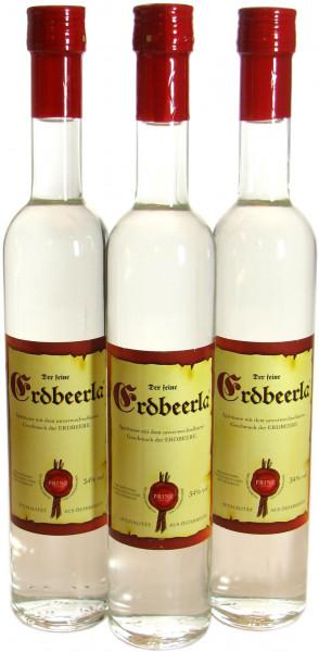 3 Flaschen Prinz Erdbeerla ( Erdbeerschnaps ) 0,5l aus Österreich