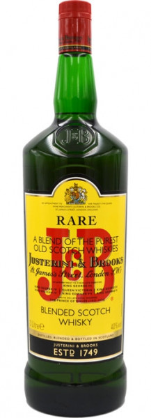 J&B Rare Grossflasche Blended Scotch Whisky