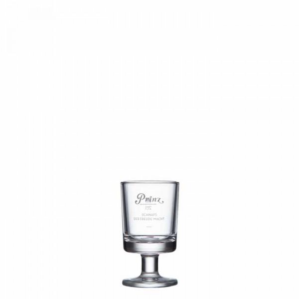 Prinz Stamperl Glas mit Stiel und 2cl Eichstrich