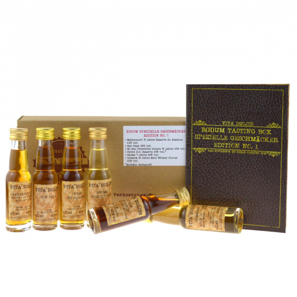 Vita Dulcis Tasting Box R(h)um Nr. 2: spezielle Geschmäcker 6x0,02l