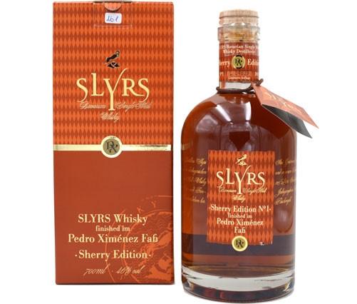 Rarität: Slyrs Whisky Pedro Ximenez Sherry 0,7l Edition 01 abgefüllt 2013 - Bavarian Single Malt Whi