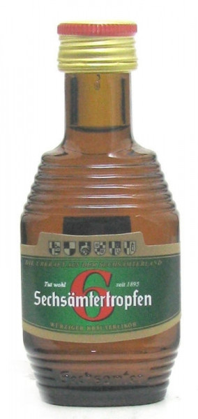 Sechsämtertropfen Kräuterlikör 0,04l Miniatur