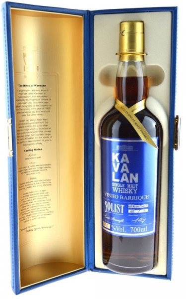 Rarität: KaVaLan Solist Vinho Barrique Single Malt Whisky 0,7l inkl. Geschenkpackung - Single Malt W