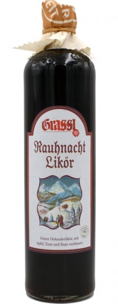 Grassl Rauh Nacht Likör mit Holundersaft+Rum 0,7l
