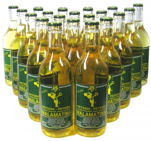 Malamatina Retsina Weißwein 20x0,5l