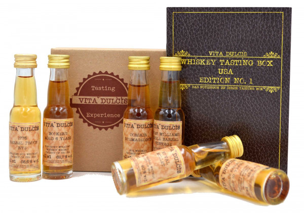 Vita Dulcis Tasting Box Whiskey Nr. 3: USA 6x0,02l + 20-seitige Broschüre - Edition No.1