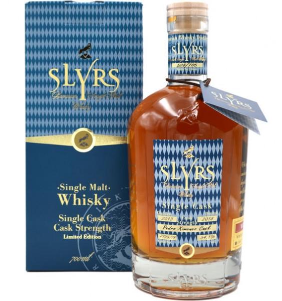 Slyrs Faßstärke Whisky 56,4% vol. 0,7l Jahrgang 2013 mit Geschenkpackung - Edition 2018