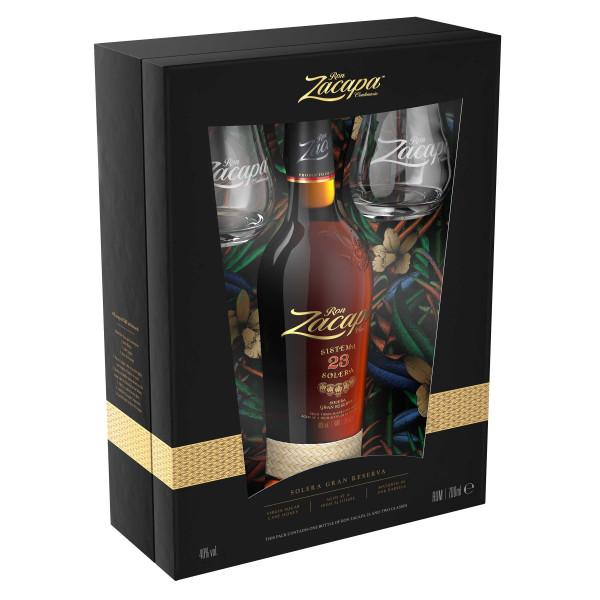 Ron Zacapa 23 Solera Rum 0,7l Edition 2019 + 2 Gläser in Geschenkpackung