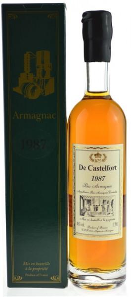 De Castelfort Armagnac Jahrgang 1987 - abgefüllt 2014/2015 - 26/27 Jahre im Fass gelagert