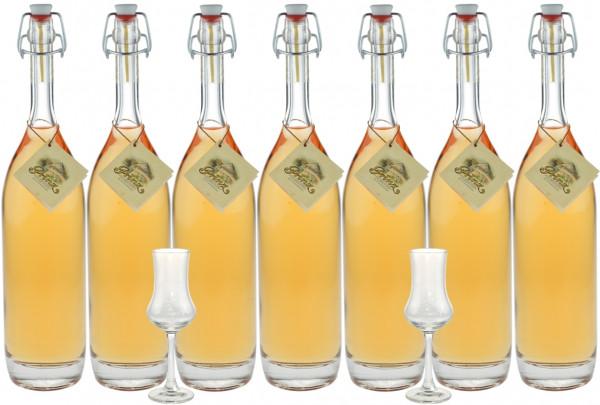 Probierpaket mit 7 Flaschen Prinz Alte Sorten 0,5l & 2 Kelchgläser