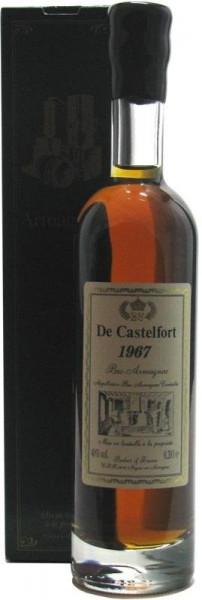 Armagnac De Castelfort 0,2l - Jahrgang 1967 - abgefüllt 2008/2015 - 40/47 Jahre im Fass gelagert