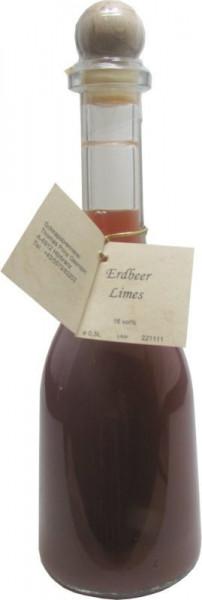 Prinz Erdbeerlimes 0,5l Likör in Rustikaflasche aus Österreich