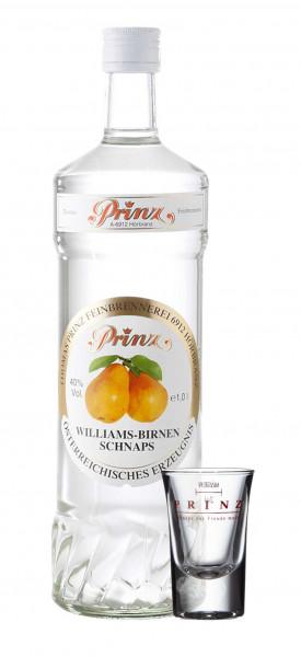 Prinz Williams Birnen Schnaps 1,0l incl. 1 Glas - Spirituose aus Österreich