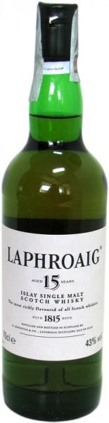Laphroaig Whisky 15 Jahre Originalabfüllung 0,7l ohne Geschenkdose