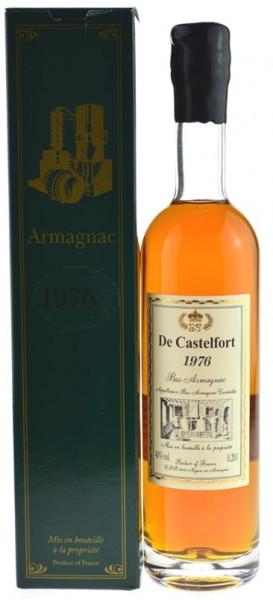 De Castelfort Armagnac Jahrgang 1976 - abgefüllt 2013/2016 - 36/39 Jahre im Fass gelagert