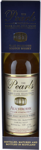 Auchroisk Jahrgang 1991 The Perls of Scotland - Rare Cask Selection